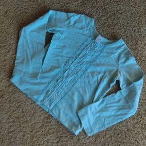 Garnet Hill blue cotton girls shirt